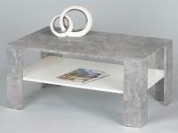 Konferenčný stolík Joker, betón / biela