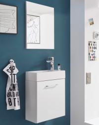 Kúpeľňová zostava Guest Light, biela , 3 diely