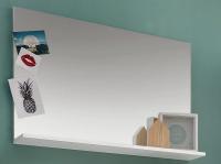 Nástenné zrkadlo s policou Amanda 451, biele