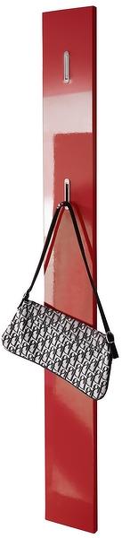 Nástenný vešiak Color panel, červený lesk