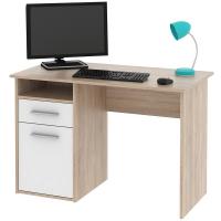 Písací stôl Miro, dub Sonoma/biela