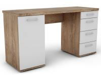 Písací stôl Walter, dub burgund/biely