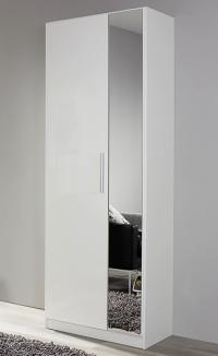 Šatníková skriňa Minosa, 69 cm, lesklá biela