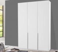 Šatníková skriňa New York D, 135 cm, biela / biely lesk
