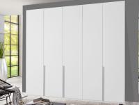 Šatníková skriňa New York D, 225 cm, biela/biely lesk