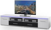 Široká TV skrinka Blue Line 4, s osvetlením