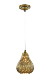 Stropná lampa Jasmin 303700104, mosadzná