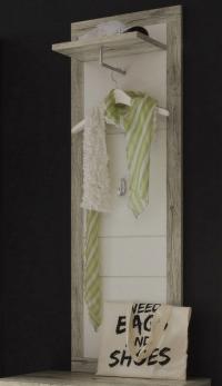 Vešiakový panel Cancan, dub san remo/biela