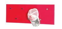 Vešiakový panel Edmond 42490, červený lesk