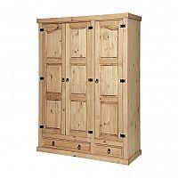 Skriňa 3-dverová CORONA vosk 162818