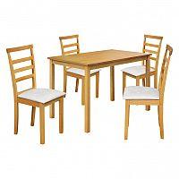 Stôl + 4 stoličky LIVORNO lak javor