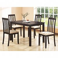 Stôl + 4 stoličky MALAGA lak čerešňa