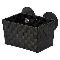 Čierny košík s prísavkami Wenko  Fermo