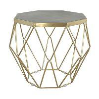 Konferenčný stolík s podnožou v zlatej farbe Livin Hill Glamour, ⌀68cm