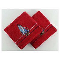 Sada 2 červených uterákov Marina Yelken, 50×90 cm