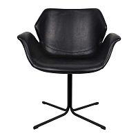 Sada 2 čiernych stoličiek s opierkami Zuiver Nikki