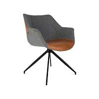 Sada 2 sivo-hnedých stoličiek Zuiver Doulton