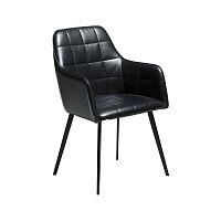 Tmavošedá koženková stolička DAN-FORM Denmark Embrace Vintage
