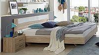Manželská posteľ 140x200 cm a dva nočné stolíky PAMELA 143 S07