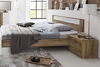 Manželská posteľ 160x200 cm a dva nočné stolíky PAMELA 142 S08