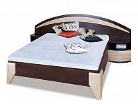 Manželská posteľ DOME DL1-1 sosna + dub sonoma