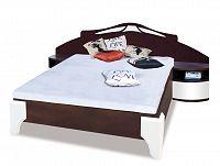 Manželská posteľ DOME DL1-4 sosna + biely lesk