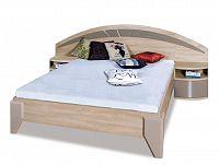 Manželská posteľ DOME DL2-1 sonoma + cappuccino lesk