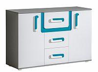 NajlacnejsiNabytok APETITO kombinovaná komoda A7, modrá
