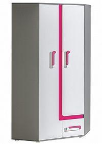 NajlacnejsiNabytok APETITO rohová skriňa A2, ružová