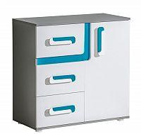 NajlacnejsiNabytok APETITO úzka kombinovaná komoda A8, modrá