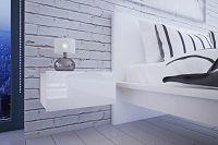 NajlacnejsiNabytok Nočný stolík MINI - biely