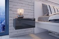 NajlacnejsiNabytok Nočný stolík MINI - šedý