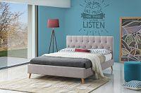 NajlacnejsiNabytok QUEEN 160 čalúnená manželská posteľ