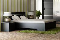 NajlacnejsiNabytok VISTA manželská posteľ 160, čierna