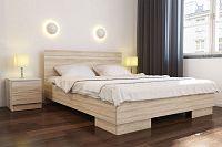 NajlacnejsiNabytok VISTA manželská posteľ 160, dub sonoma