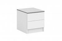 NajlacnejsiNabytok VISTA nočný stolík D2, biela
