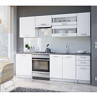 Kuchynská linka 2,4 m, biela, FABIANA