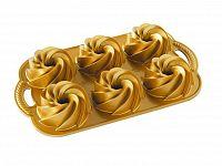 Nordic Ware Forma na 6 malých báboviek zlatá 6 x 160 ml