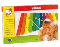 Bino Farebný drevený xylofón 86554