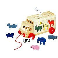 Bino Skladací kamión so zvieratkami 84068