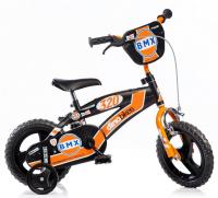 """DINO Bikes Detský bicykel 12"""" BMX - čierno oranžový 125XL"""