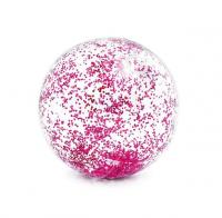 Intex nafukovacia lopta transparentná s flitrami fialová 58070