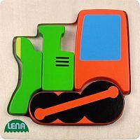 Lena Drevené puzzle Lokomotíva 32078