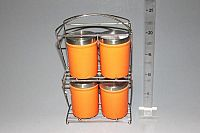 Makro 14014 Dózy S/4 na stojane oranžové