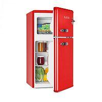 Klarstein Irene, retro chladnička s mrazničkou, 61 l chladnička, 24 l mraznička, červená
