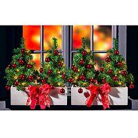 Magnet 3Pagen 4 svietiace stromčeky do kvetinových hrantíkov