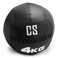 Capital Sports Bravor Wall Ball medicinbal PVC dvojité švy 4kg čierna farba
