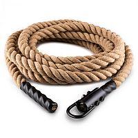 Capital Sports Klarfit Power Rope, 9m/3,8cm, kyvadlové lano s hákmi, stropné pripevnenie