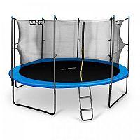 Klarfit Rocketboy 430, 430 cm trampolína, vnútorná bezpečnostná sieť, široký rebrík, modrá
