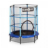 Klarfit Rocketkid, 140 cm trampolína, vnútorná bezpečnostná sieť, bungee pružiny, modrá